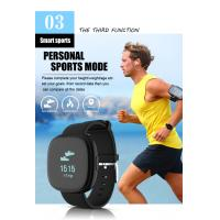 Quality Latest Bluetooth Activity Tracker Blood-pressure Heart-rate Black Color Smart Wristband 0.95'' OLED Display for sale