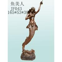 Wholesale Antique bronze mermaid sculpture, erotic woman brass statue, figure sculpture for decor from china suppliers