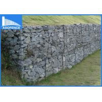 Wholesale Decorative Galvanized Gabion Baskets Fence Panels For Protection , 80x100mm from china suppliers