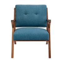 Wholesale Blue Arm Accent Chair Deattached Seat , Fabric Living Room Chairs Tight Back from china suppliers