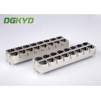 Quality Stack RJ45 Female Jack 2X8 Port top entry ethernet connector 0811-2X8R-19-F RoHS for sale