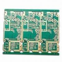 Wholesale Plating Gold PCB, Made of FR-4 Material with 0.5 to 4oz Copper Thickness and 0.25mm Minimum Size from china suppliers