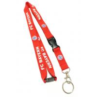 Wholesale Custom Red Breakaway Neck Strap Lanyard Silk - screen Printed With Metal Hook from china suppliers