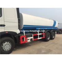 Quality Sinotruk Howo 18cbm Water Tank Truck 6x4 With HW19710 Transmission and Radial Tires in White Color for sale