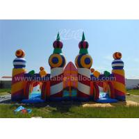 Quality Rainbow Color Inflatable Bouncy Castle Candy World Giant With CE Blower for sale