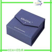 Quality Luxury Violet Magnetic Gift Boxes / Custom Paper Box For Gift Packaging for sale