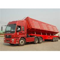 Wholesale 3 axle 40T 40 tons Side Tipper Trailer Hydraulic Cylinder Side Tipper Dump Semitrailer from china suppliers