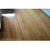 Quality Long Life 8mm HDF Laminate Flooring With Crystal Surface E1 Solid Texture for sale