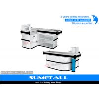 Wholesale Fast Supermarket Checkout Counters Cashier Desk With Metal Countertops Anti - Slip from china suppliers
