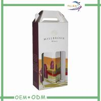 Wholesale Corrugated Paper Wine Gift Packaging With Handle , 2 Bottle Wine Gift Box from china suppliers