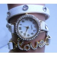 Wholesale Love Rhinestone Bracelet Watch Vintage for Students Lovely Watch from china suppliers