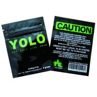 Wholesale Aluminium Foil Ziplock Pouches 10 Gram Bags Of Herbal Incense OEM / ODM from china suppliers
