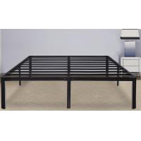 Quality Heavyweight Steel Slat Bed Frame , King Size Bed Metal Frame With Safe Round Edge for sale