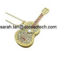 Wholesale New Cute Jewelry Guitar USB Flash Drives Full Capacity Guaranteed from china suppliers