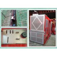 Wholesale Personnel And Material Construction Hoist Twin Cage , Building Hoist Overload Protection from china suppliers