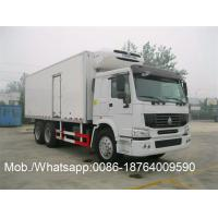 China Thermo King Side Door Refrigerated Close Van Truck Sinotruk Howo 6x4 25T on sale