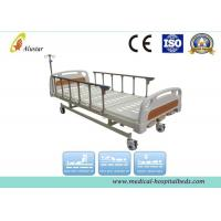 Quality Coated Steel Manual Crank Medical Hospital Bed With Aluminum Alloy Guardrail (ALS-M302) for sale