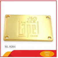 Wholesale Custom Handbag Metal Hardware Zinc Alloy Plate Die Casting Logo Badge from china suppliers
