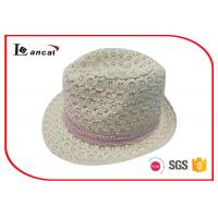 Wholesale Pink Crochet Ribbon Waterproof Trilby Hat Felt Fedora Hats For Women from china suppliers