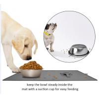 Quality Magic pet silicon mat yi le pet products SPILL RESISTANT PET FOOD MAT for pet bowl cannot move when pets eatting for sale