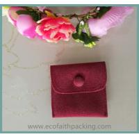 Wholesale fabric button pouch, velvet button pouch bag, velvet pouch with button from china suppliers