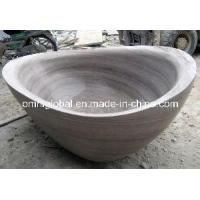 Wholesale Athen Wood Vein Marble Bathtub from china suppliers