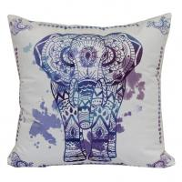 Wholesale Polyester Fabric Simple Blues Elephant Throw Pillow Reversible With Two Side Printing from china suppliers