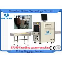 Quality High Resolution Security X Ray Scanner , Small Baggage Scanning Machine With Roller Shelf for sale