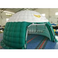 Wholesale Green White Air Dome Advertising Inflatable Tents PVC Fabrics For Party / Event from china suppliers
