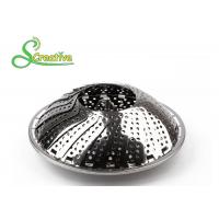 China SS430 Collapsible Stainless Steel Steamer Basket Non Scratch For Food Cooking on sale