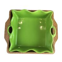 Wholesale Ceramic dish with cork tray/cork base from china suppliers