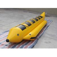 Wholesale Yellow / Black 0.9mm PVC Flyfish Inflatable Water Toys Water Game Banana Boat from china suppliers