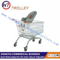 Wholesale Euro​ Style Steel Wire Shopping Trolley With Baby Chair Customization from china suppliers