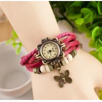 Buy cheap 2015 High Quality Women Genuine Leather Vintage Watches,Women dress bracelet Wristwatches butterfly Pendant from wholesalers