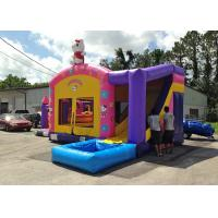 Wholesale Kids Party Pink Hello Kitty Themed Inflatable Bouncer With Slide 0.55mm PVC Tarpaulin from china suppliers
