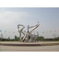 Wholesale Bicycle Riders Stainless Steel Sculpture for Park from china suppliers