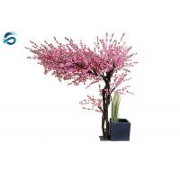Safety Artificial Peach Blossom Tree Steel Panel Material Ornamental Function