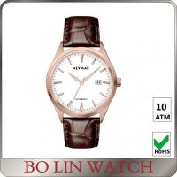 Wholesale Luxury Mechanical Brown Genuine Leather Watches With Date Working from china suppliers