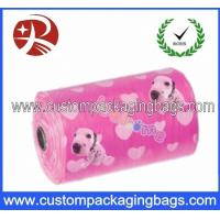 Wholesale Pink Gravure Printing Eco - friendly Dog Poop Bags With Roller For Dog from china suppliers