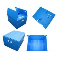 Wholesale Blue Non - Toxic Folding Plastic Corrugated Plastic Boxes With Thickeness 2-6mm from china suppliers