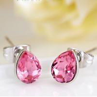 Wholesale Ref No.: 405047 Rose Raindrops Elements Swarovski earrings prices Elements Swarovski accessories paradise jewelry from china suppliers