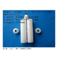 Wholesale White 200ml two component dispensing catridge , dispensing barrel , glue cartridge from china suppliers