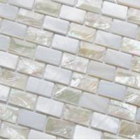 Wholesale Sea shell Mosaic Freshwater Shell Mixed White Abalone Shell Mosaic Square Pieces 10x20mm from china suppliers