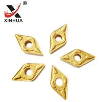 Wholesale Gold Tungsten Carbide Turning Inserts , Cemented Carbide Inserts DNMG150608 from china suppliers