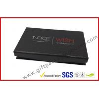 Buy cheap rigid board cosmetic packaging box with mirror , black box with plastic inner logo foil from wholesalers