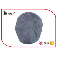 Wholesale Eight Panels Duckbill Flat Cap Nep Yarn Grey Scally Caps For Mens from china suppliers
