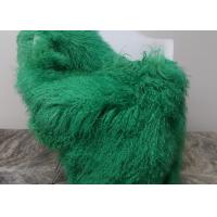 China Luxury Soft Dyed Mongolian Sheepskin Rug For Bed Sofa Decorative Throw Blankets  on sale