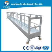 Wholesale CE steel fixed decorative suspended platform ,zlp building gondola, zlp800 steel cradle from china suppliers
