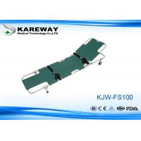 Wholesale Easy Fold Wheeled Emergency Folding Stretcher Green Color With Adjustable Back Rest from china suppliers