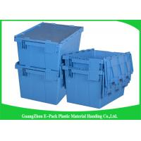 Wholesale Colored Logistic  Plastic Attached Lid Containers Easy Stacking Long Service Life from china suppliers